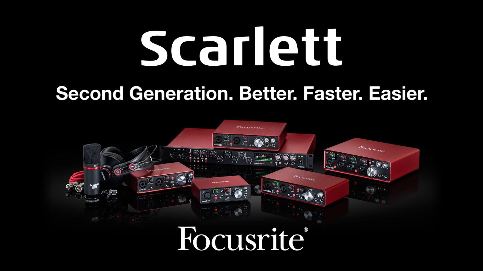 La segunda generación de Focusrite Scarlett aterriza en Microfusa