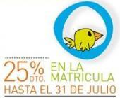 25% de descuento en la matrícula !!!